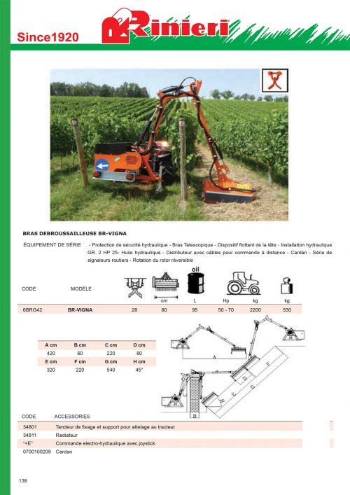 Bras débroussailleuse micro tracteur